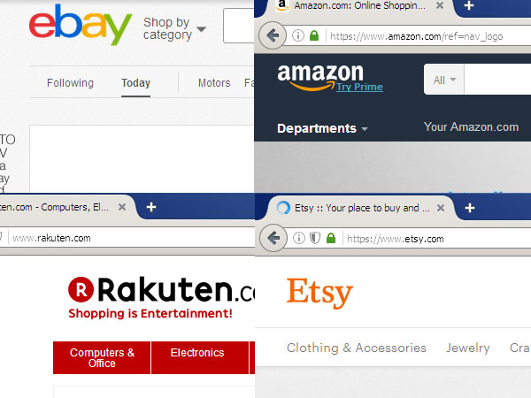 eBay, Amazon, Esty, Rakuten, listing help