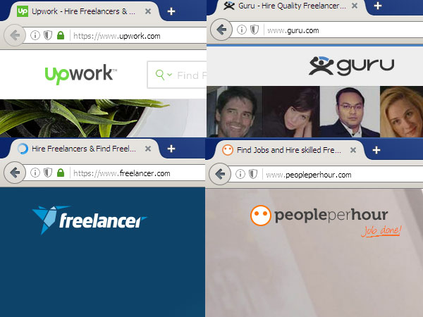 Jobs Portals - Upwork, Freelancer, Guru, People Per Hour - which one is best