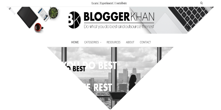 Example of a custom designed blog in WordPress, Dallas, TX, USA
