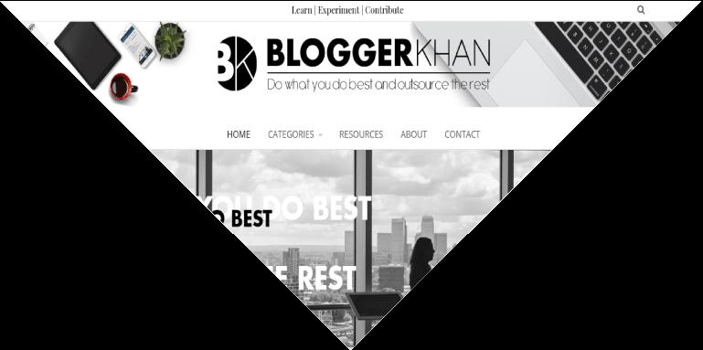 Example of a custom designed blog in WordPress, Dallas, TX, USA