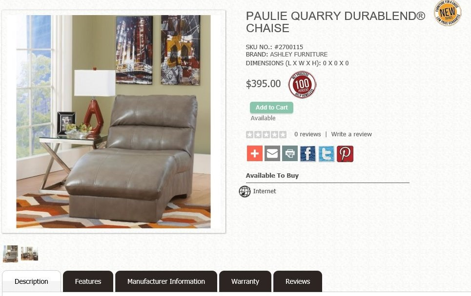 OpenCart based - example of a furniture store online