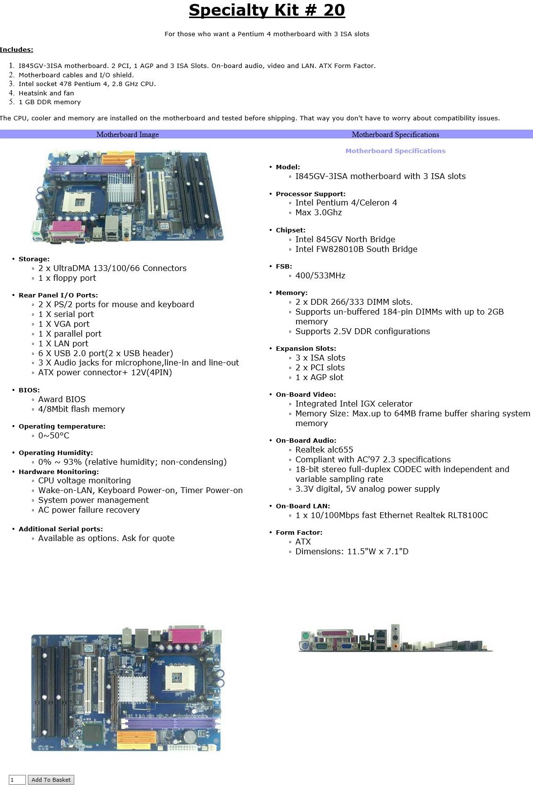 Core PHP website for a computer hardware company