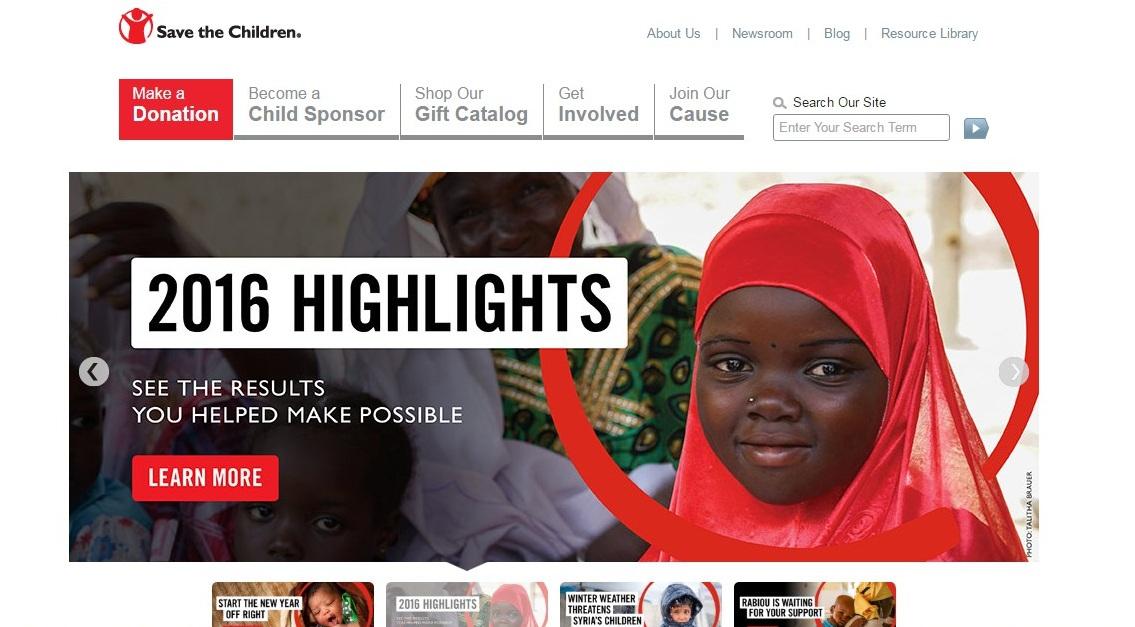 Sample website for non-profit charitable organization