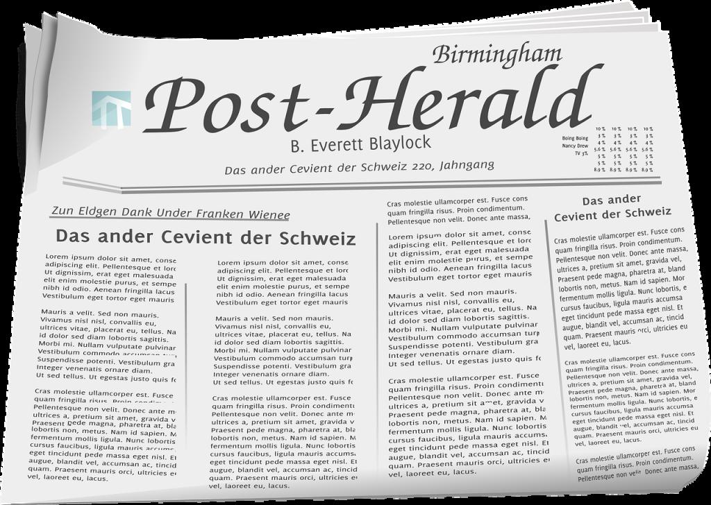 newspaper-37782_1280
