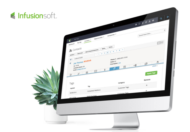 Mindbodyonline with InfusionSoft Integration