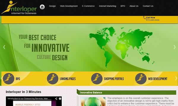 Dallas DFW North Texas USA - Brochure style informative website in WordPress.