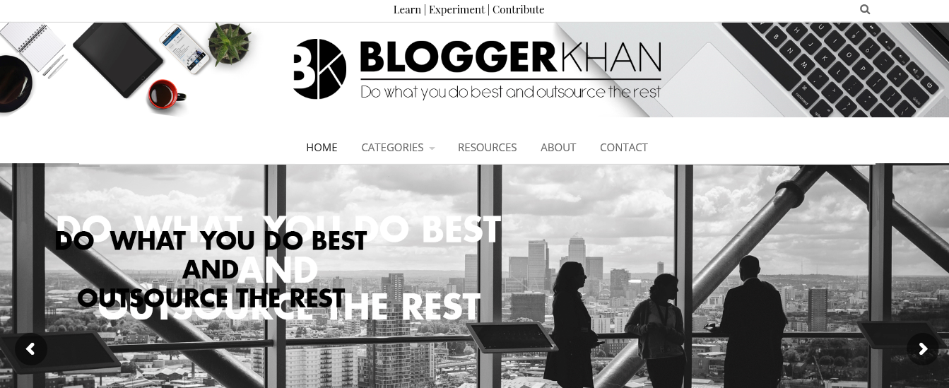 Example of a blog design
