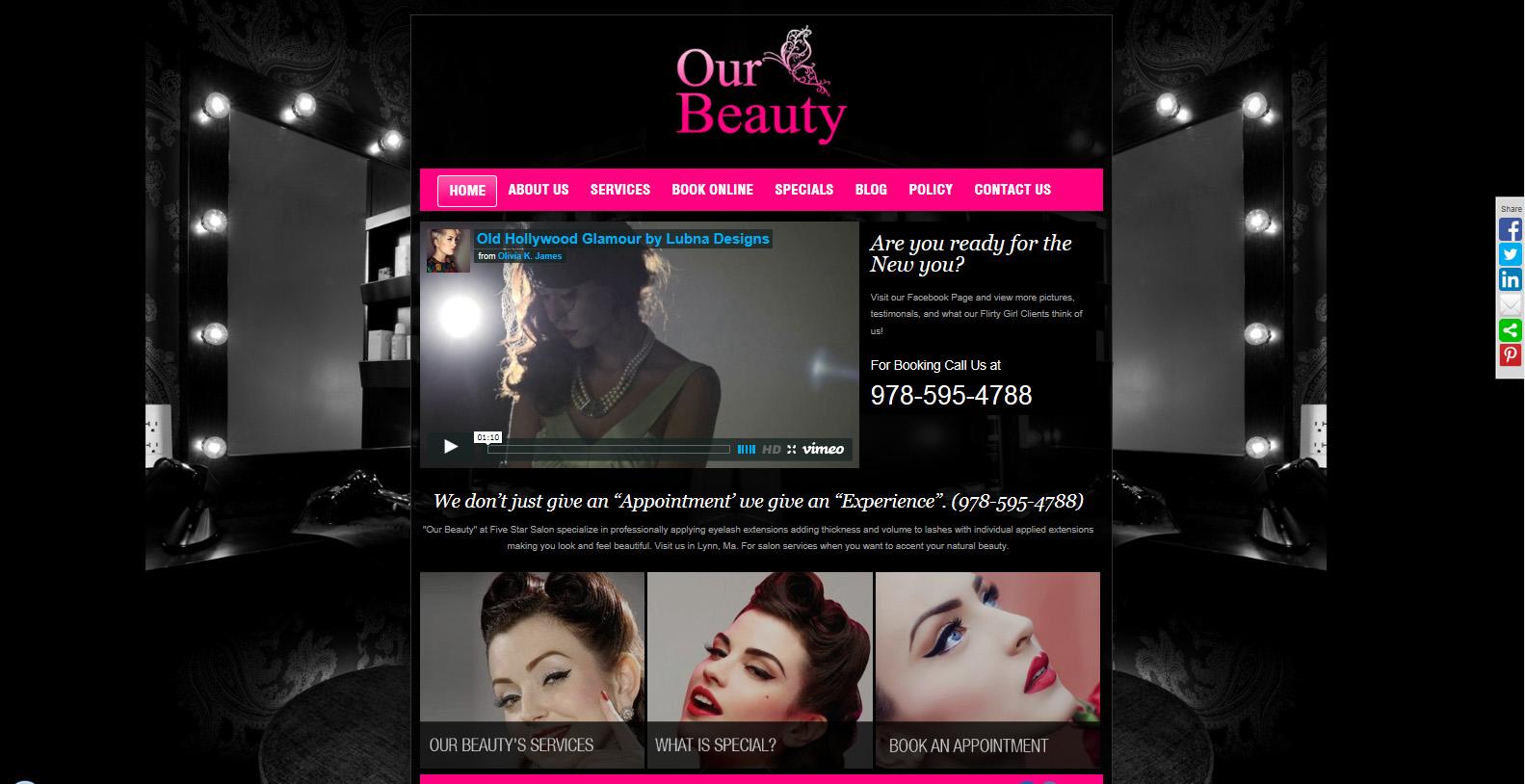 Custom website for a beauty salon