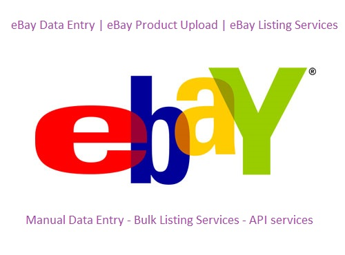 eBay listing Product Data Entry Services: