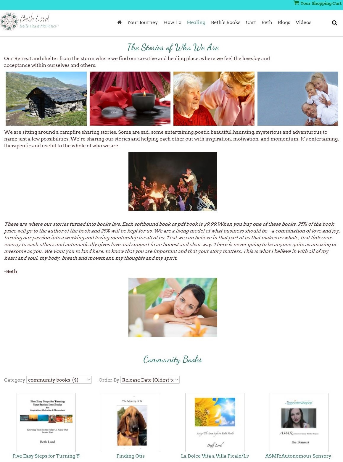 One on one help with sharing your story, web design, development, social media